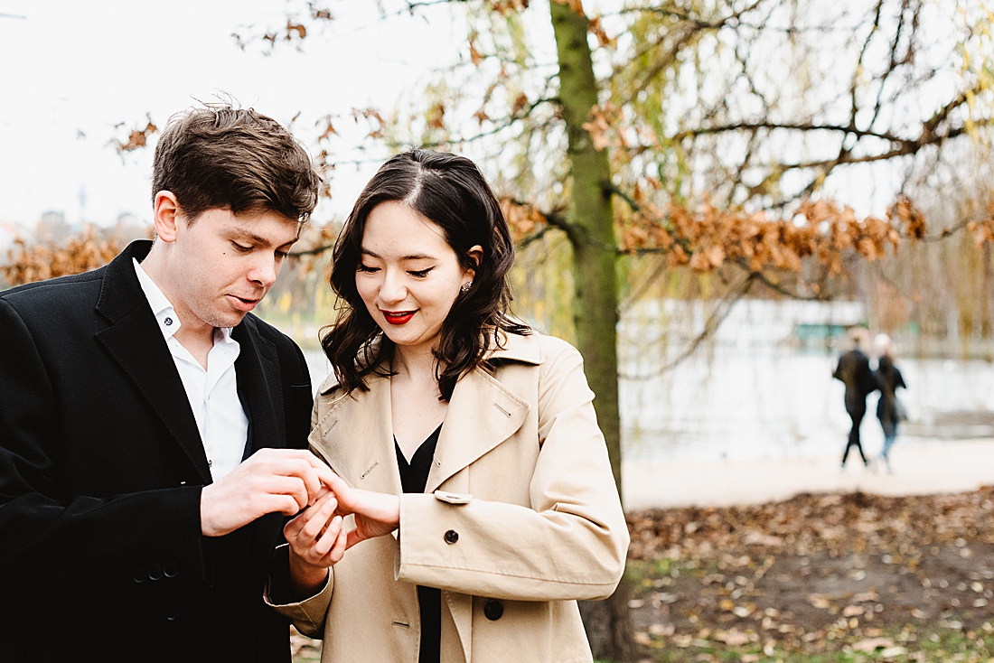 autumn London parks engagement photography