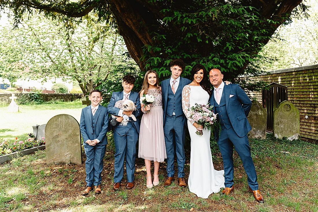 Bride and groom family wedding photography Hertfordshire