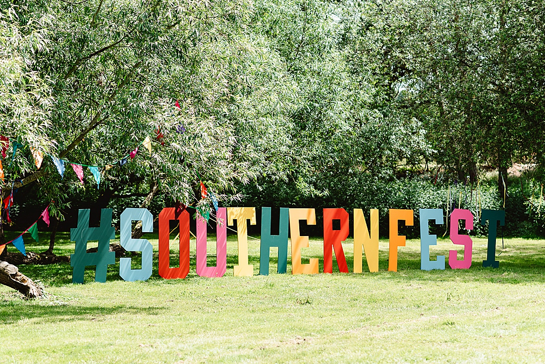 festival wedding giant letters Hertfordshire