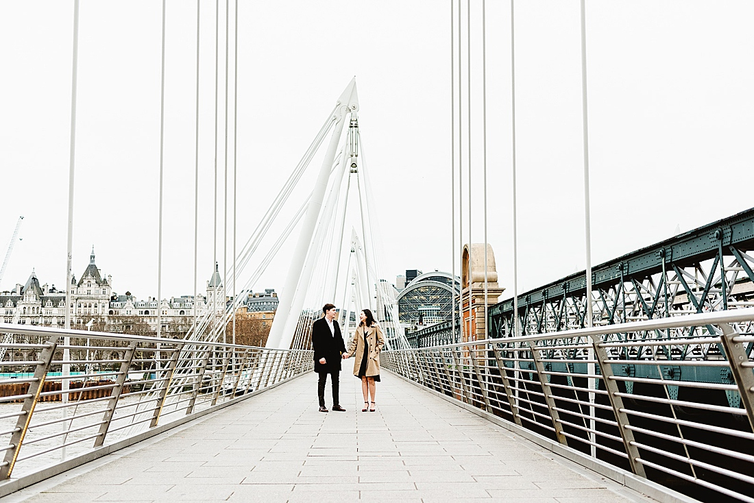 Hungerford Bridge London engagement photography