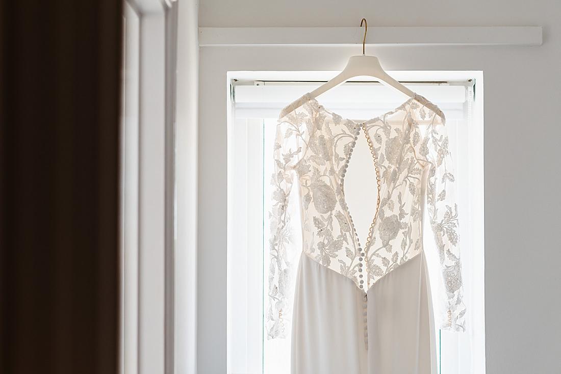 Pronovias lace back wedding dress