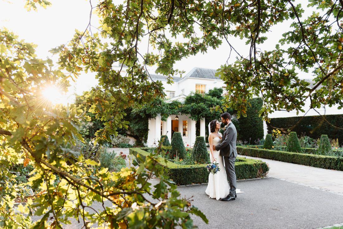 sunset-bride-groom-pembroke-lodge