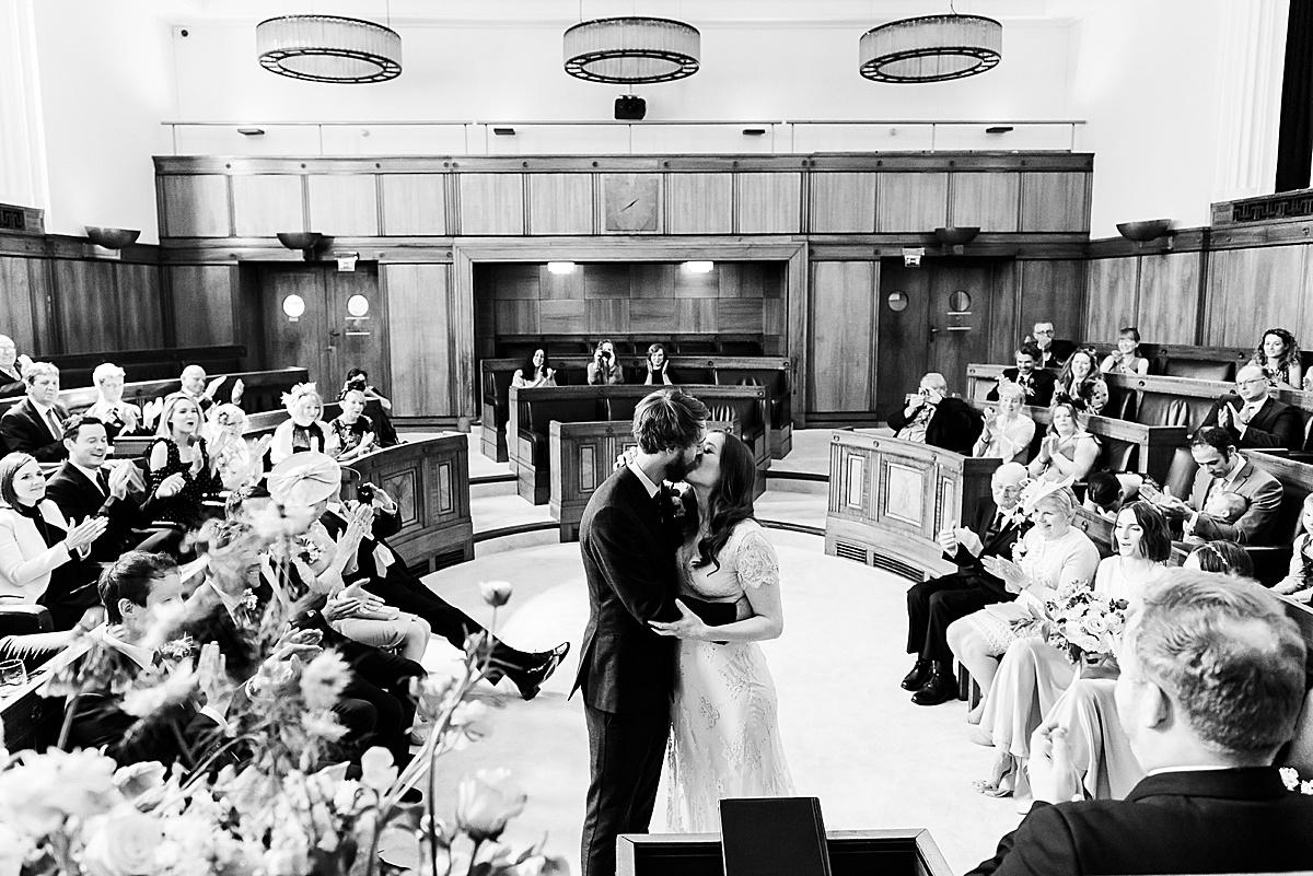 Town Hall Hotel wedding ceremony Fiona Kelly Photography