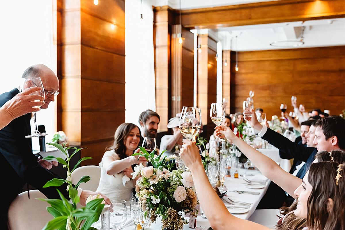 Town Hall Hotel London wedding reception toast