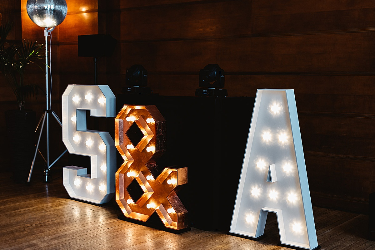 giant light up letters Town Hall Hotel London