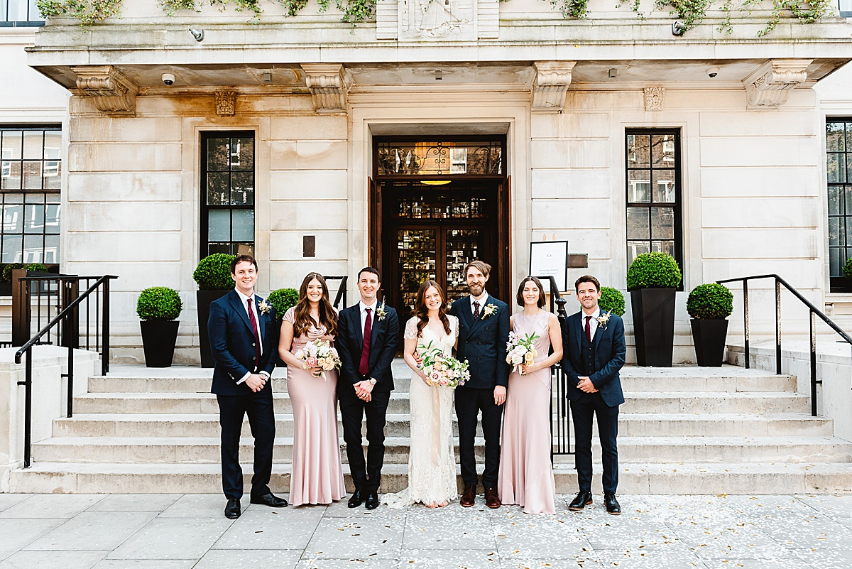Town Hall Hotel wedding portrait