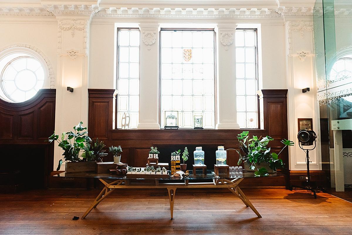 stylish London wedding Town Hall Hotel