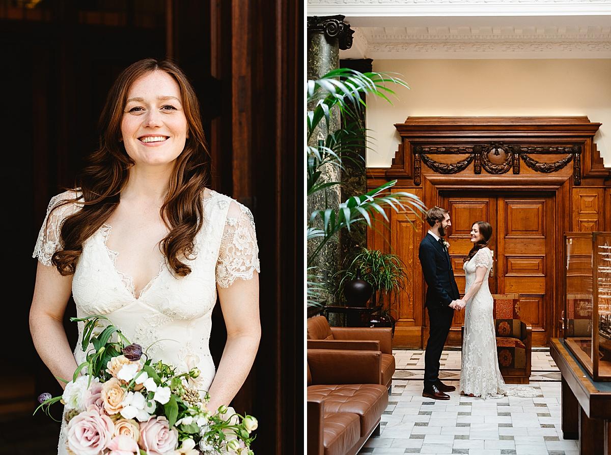 stylish Town Hall Hotel London wedding