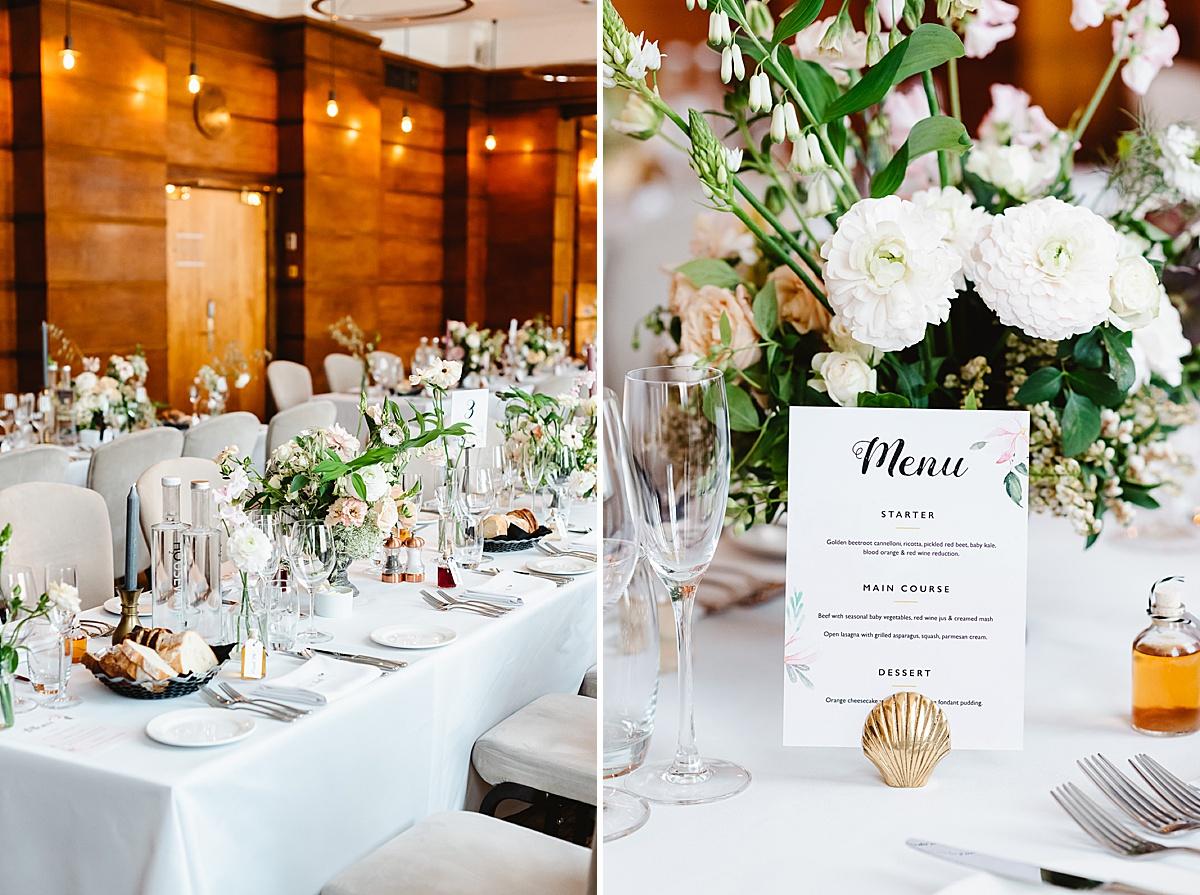 stylish Town Hall Hotel London wedding photography