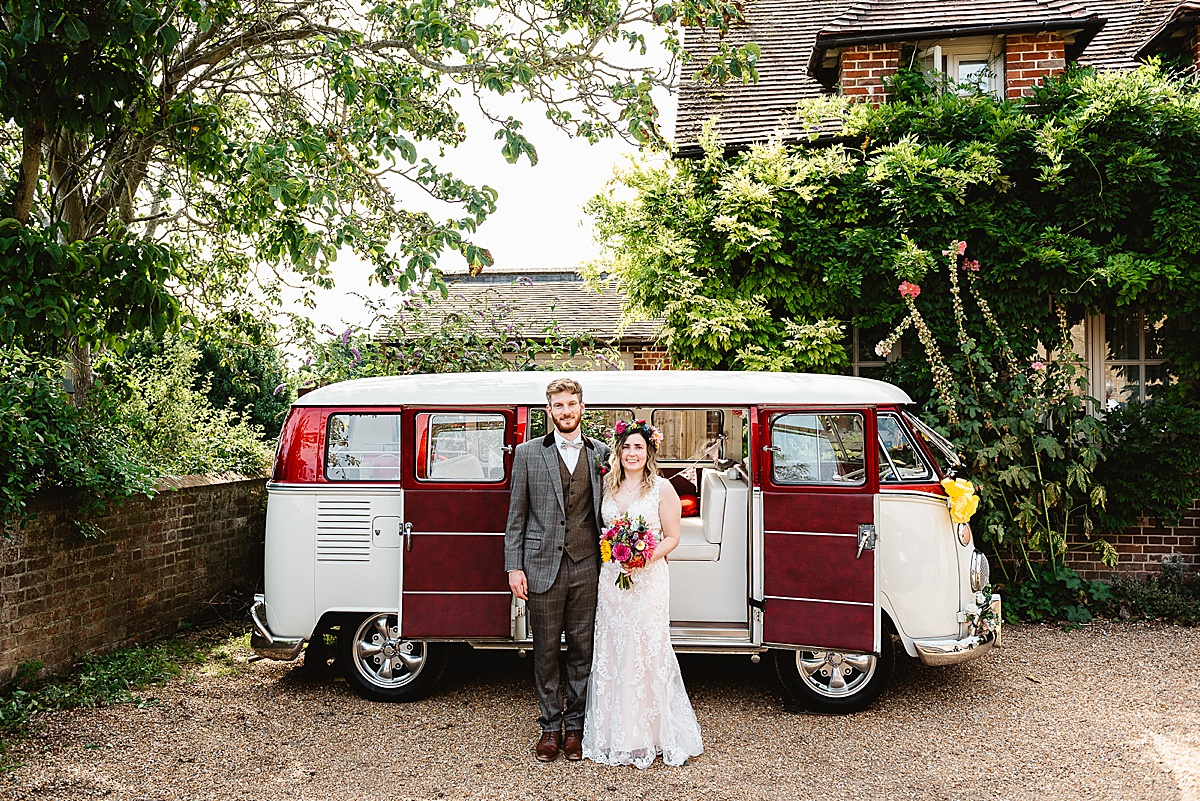 camper van west sussex wedding photography