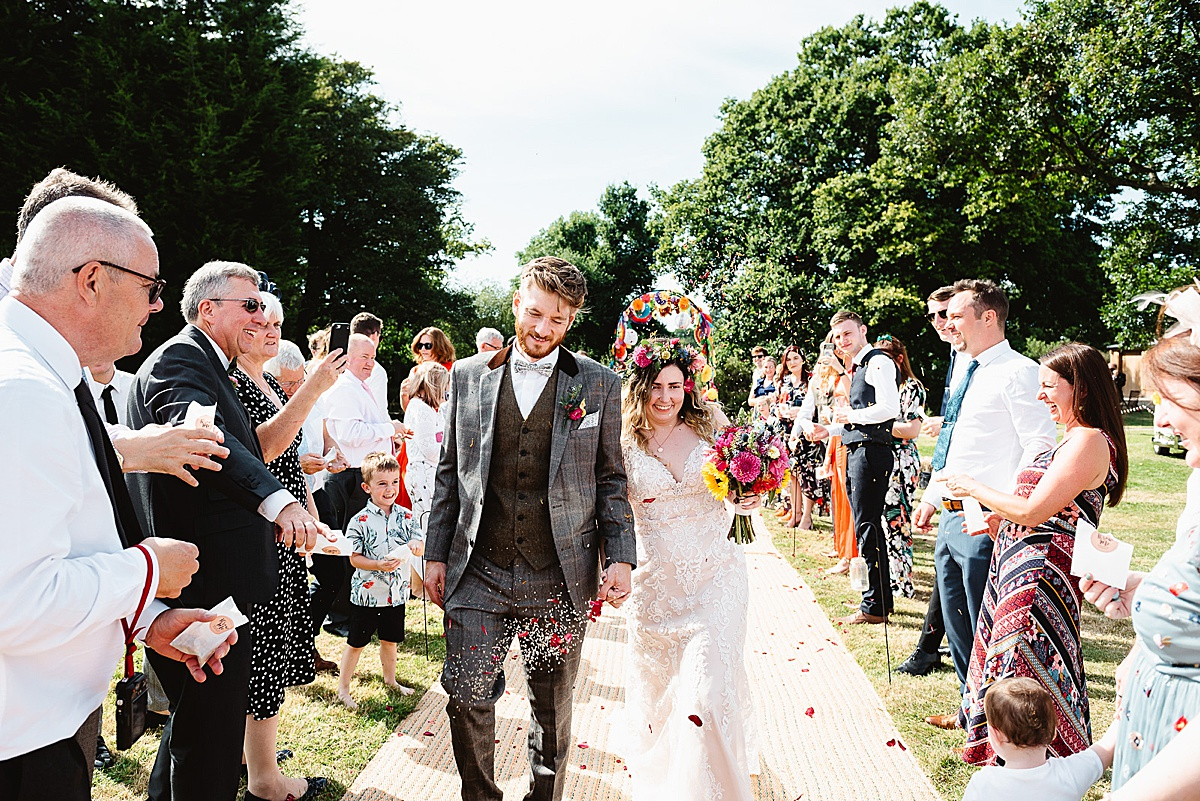 colourful west sussex wedding photography
