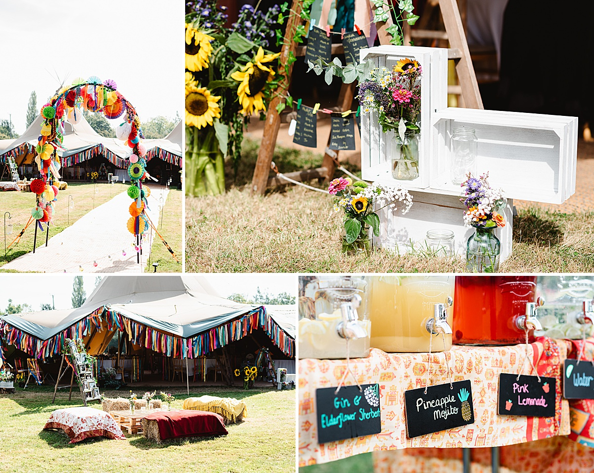 festival wedding decor ideas west sussex wedding photography