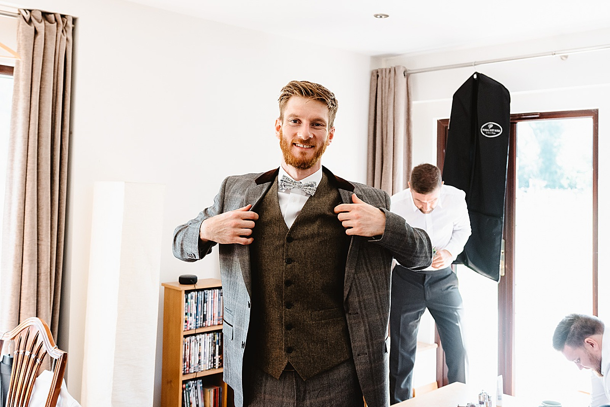tweed groom suit west sussex wedding photography